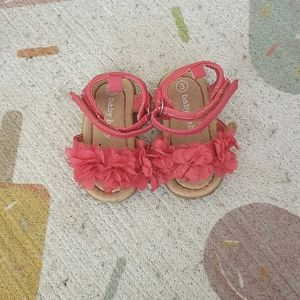 Ruffle baby sandals
